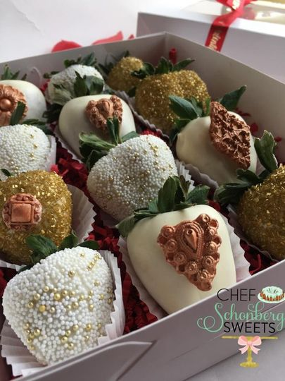 Chef Schonberg's Sweets bridal party gift boxes