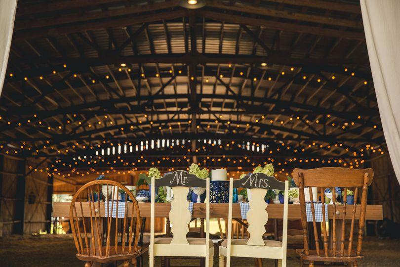 Farm table at little herb house barn