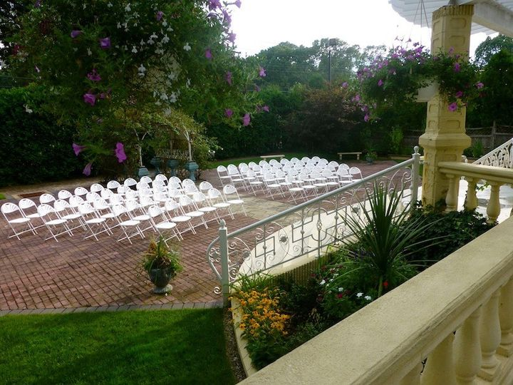 Chairs ready for guests in the Ceremony Garden