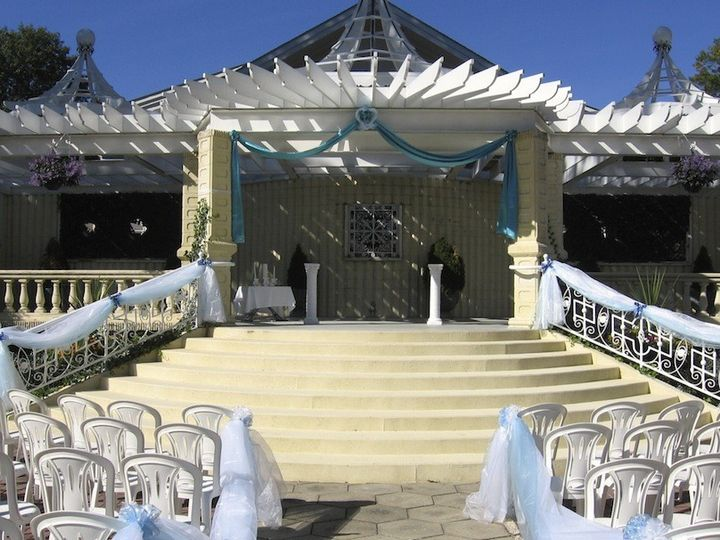 The grand staircase in the Ceremony Garden