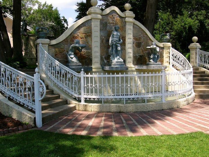 Statues and fountains fill the Ceremony Garden