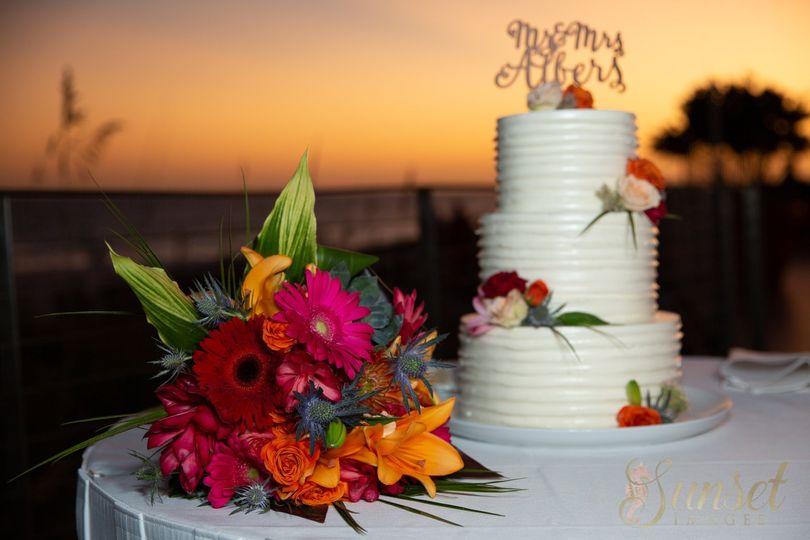 Cake at dusk