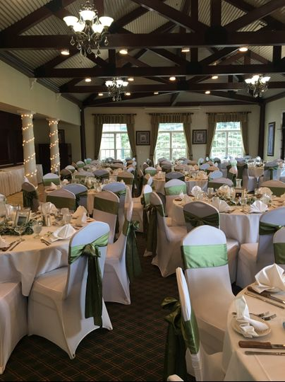 Banquet hall with chair covers