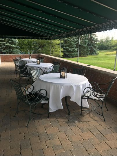 Covered outdoor space at clubhouse