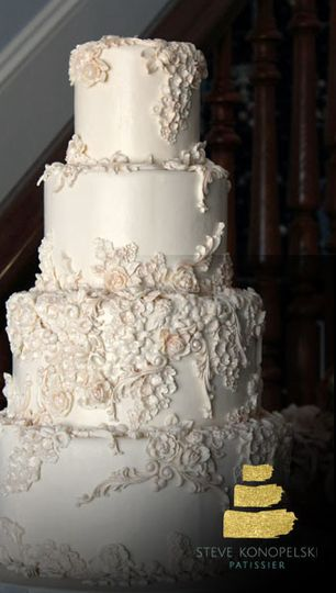 4-tier rough wedding cake