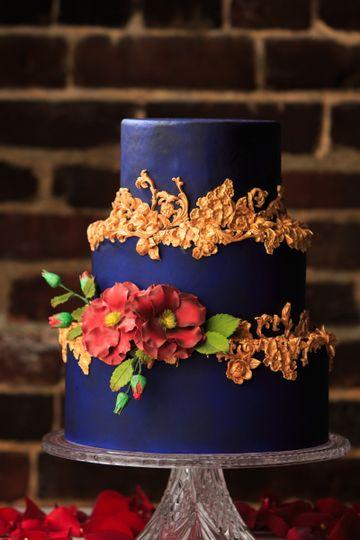 3-tier indigo cake