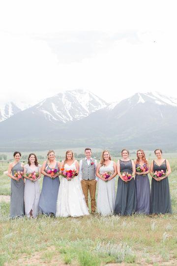 Mountain bridal party