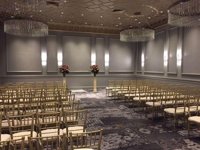 Mt. Vernon Ballroom set for a ceremony.