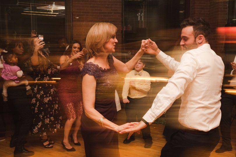 Mom and groom on the dance floor