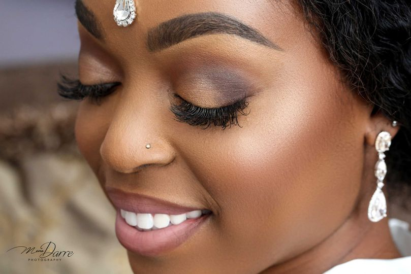Bridal makeup by blush