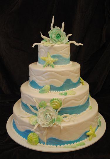 Oceanic wedding cake
