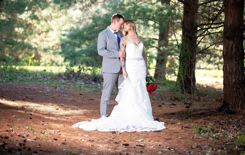 Bridal shoot at the park