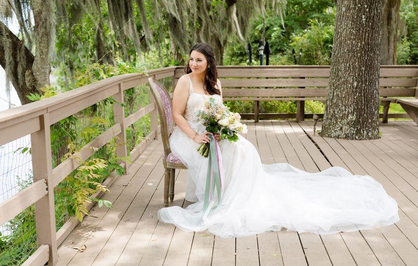Sitting bride