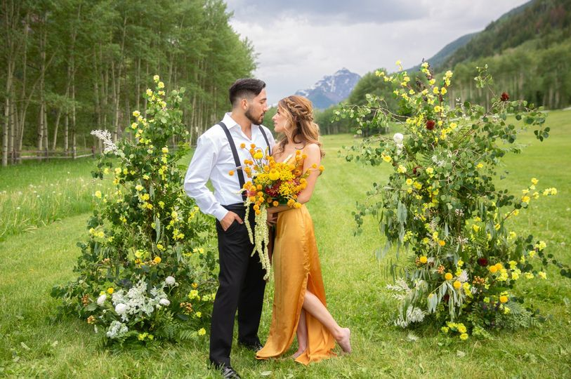 Bride in yellow
