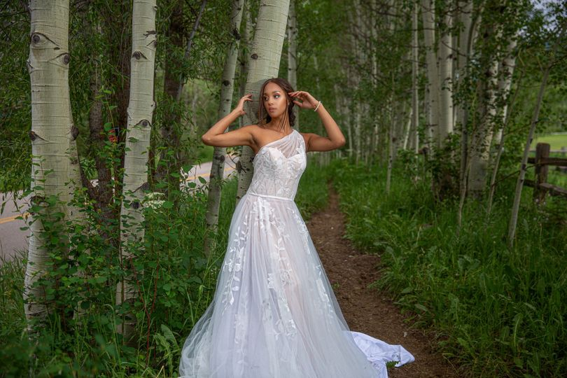 Bride in the trees