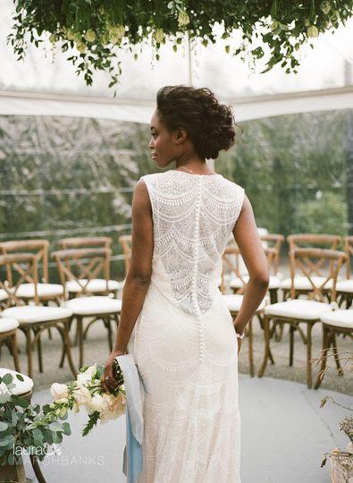 Bride's back of dress