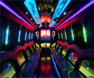 White Party Bus seats 30-35 passengers