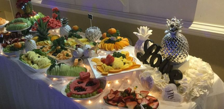 Wedding buffet area