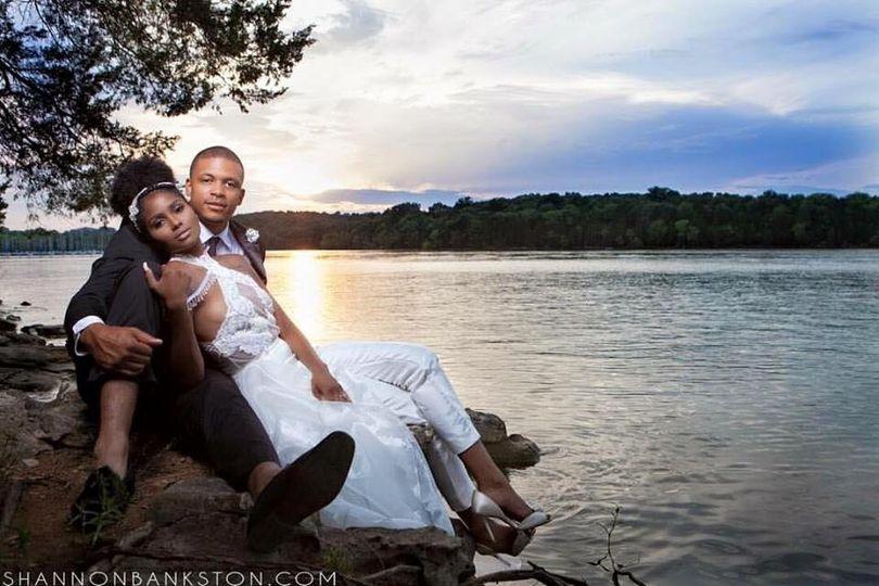 Lakeside couple