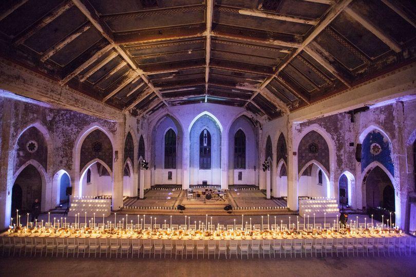 Wedding ceremony and reception area