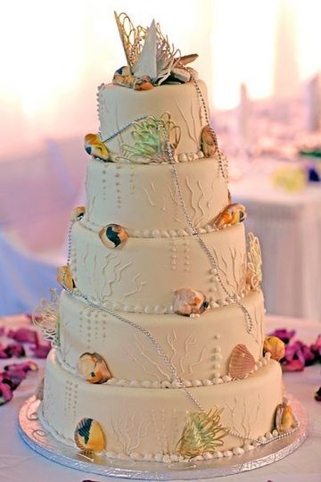seashellweddingcake