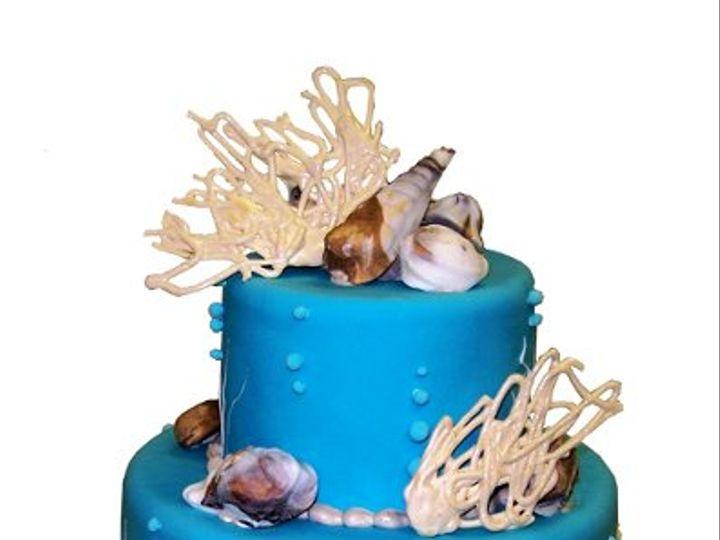 Tmx 1331831979892 BlueSeashelCake Canoga Park wedding cake
