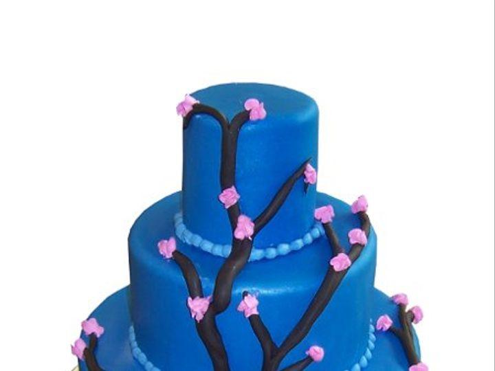Tmx 1331832024133 BlueCherryBlossomCake Canoga Park wedding cake