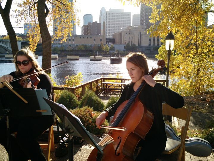 Playing at nicollet island pavillion