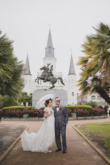 Henry + Molly in Jackson Square, New Orleans.