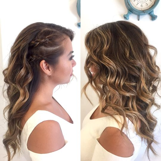 Beach waves with side braids