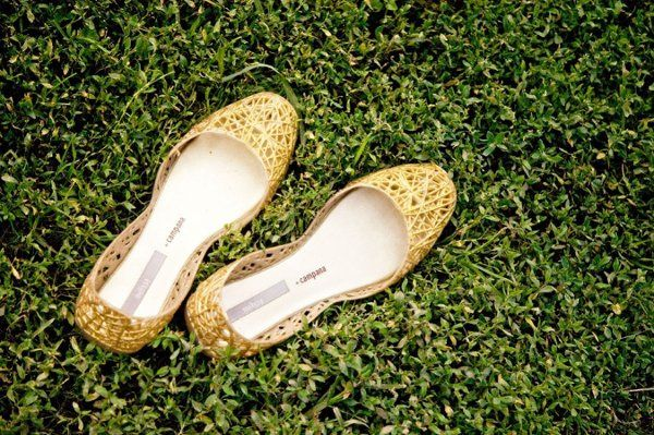 The bride's shoes.
