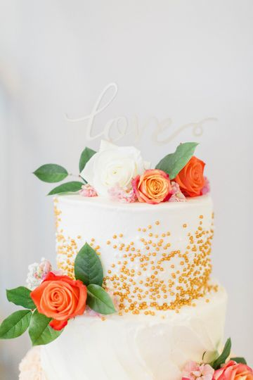 C&J Catering tiered cake