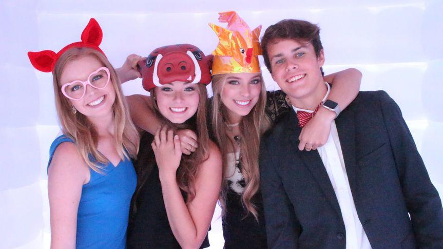Happy four friends