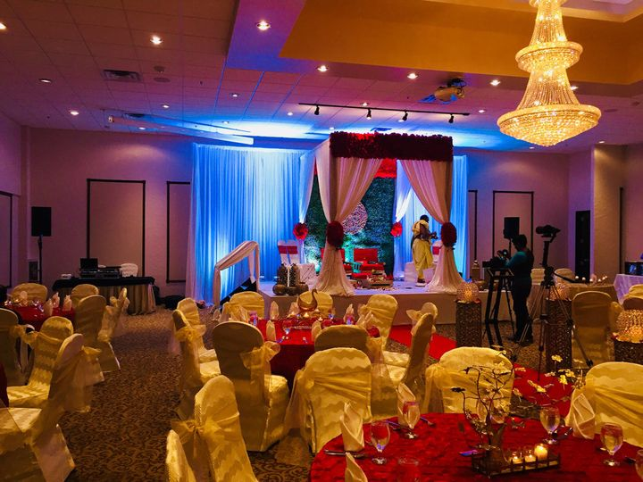 Uplighting & Traditional music for Indian Wedding Ceremony