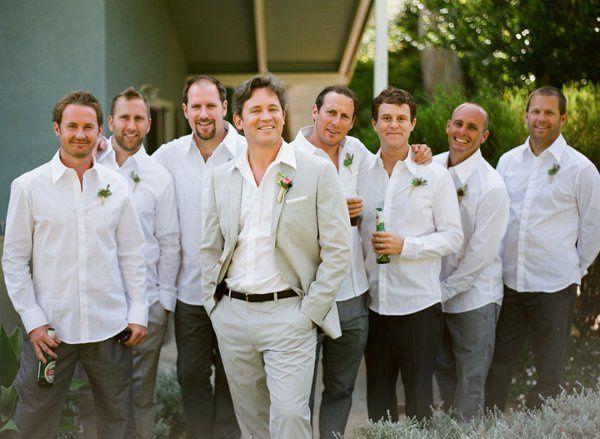 groomsmen, beach attire