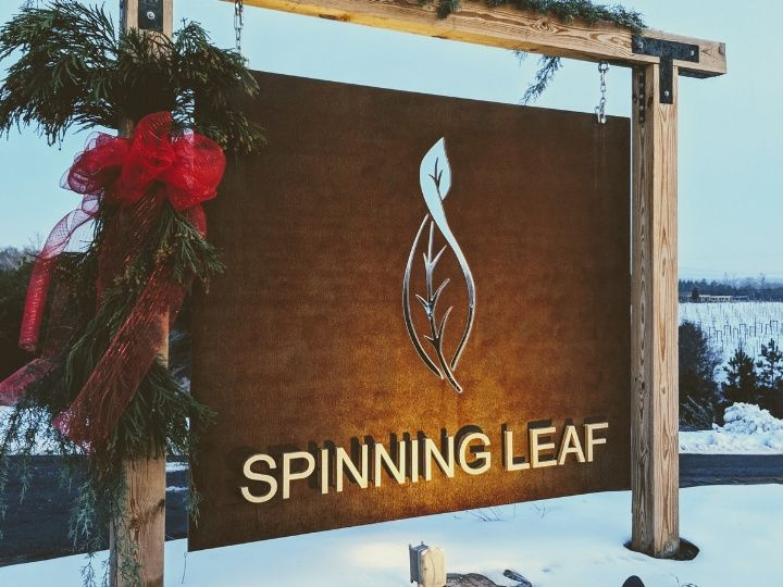 Tmx Spinning Leaf Sign 51 1030009 Shelby, NC wedding venue