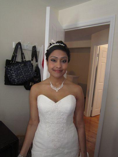 Bride all dressed