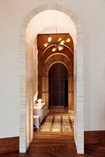 Hallway and elevator bank