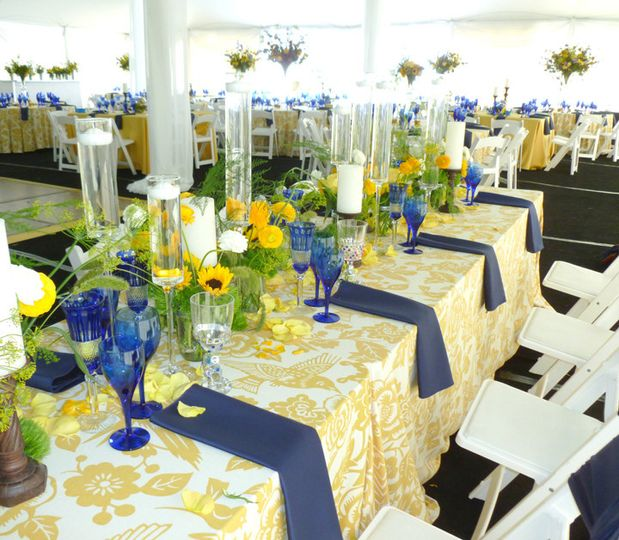 Blue and yellow motif