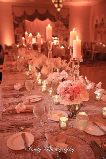 Long table with centerpiece