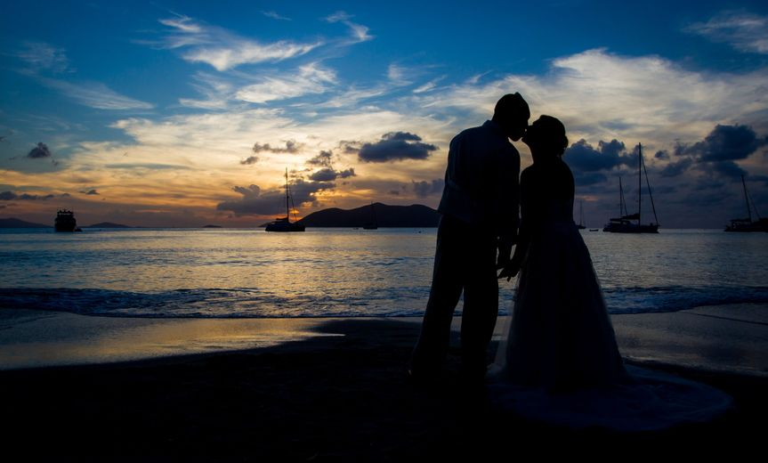 BVI Wedding Sunset Moment