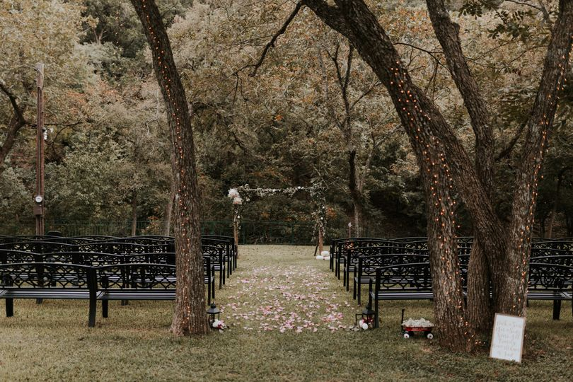 Garden Wedding Ceremony site