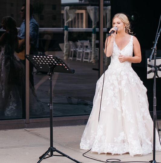 Singing at my own wedding