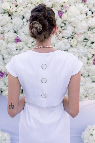 Back details - coat dress - trench  - GACITUA