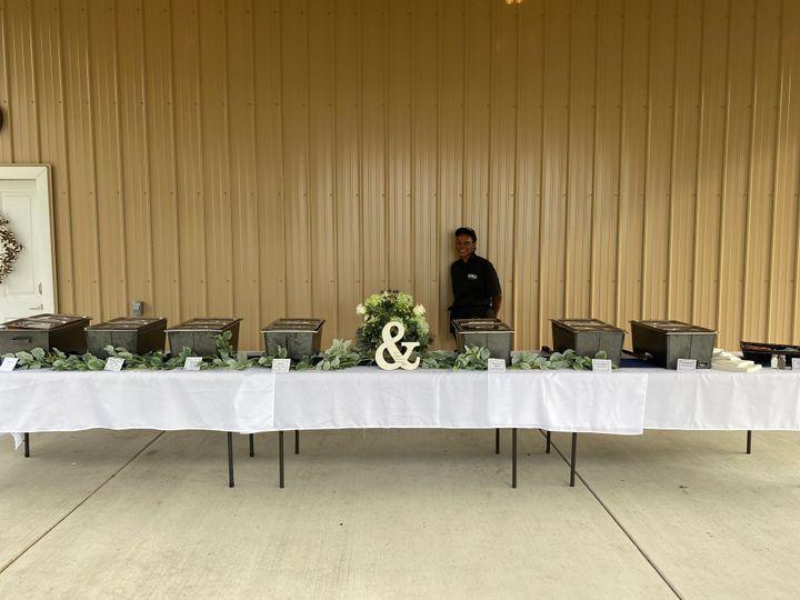 Beautiful buffet line