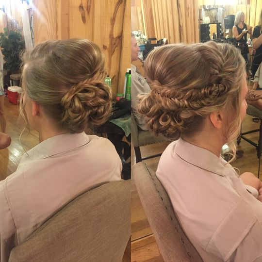 Updo with Braids Party Member