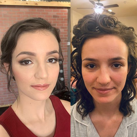 Before and After of Bride