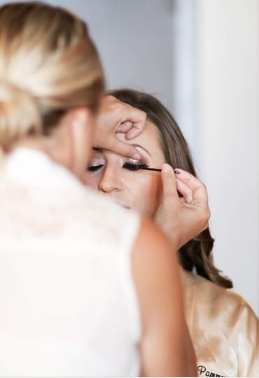 Makeup on the Bride