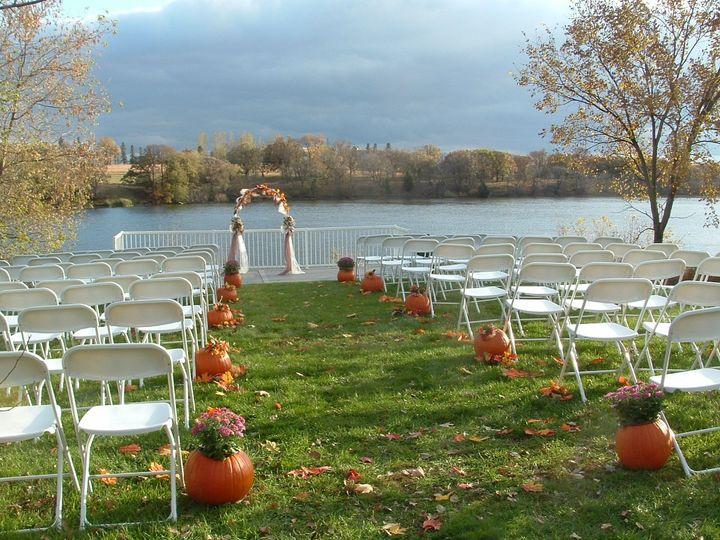 Fall wedding setup