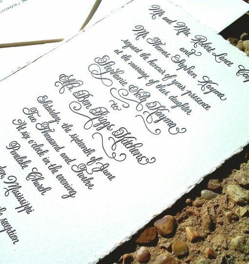 Calligraphy By Jennifer Wedding Invitations Kentucky